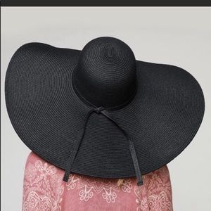 Accessories - ✨🌞New✨Black Oversized Wide Brimmed Hat✨OS